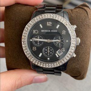 Black Ceramic Michael Kors Watch